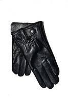 Чоловічі сенсорні шкіряні рукавички на махре оптом