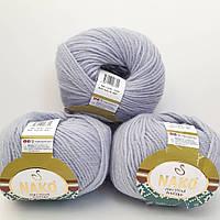 Пряжа Nako Pure Wool Boutique 5481 голубой (нитки для вязания Нако Пур Вул Бутик) 100% Шерсть