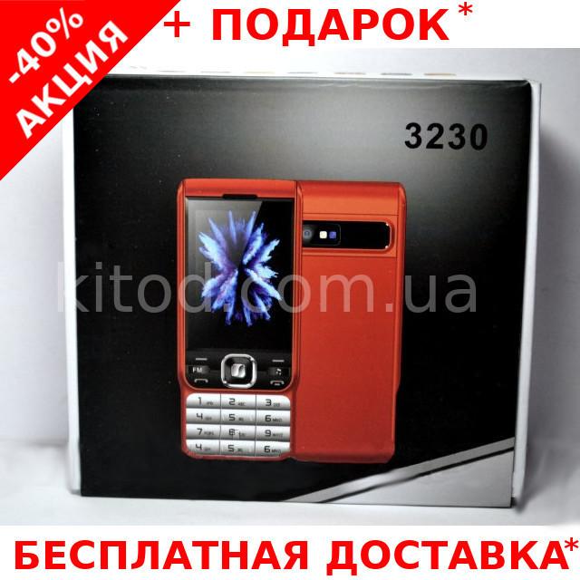 """Мобильный телефон Nokia 3230 Original size на 2 Sim 2.2"""" экран с фонариком и детектором валют"""