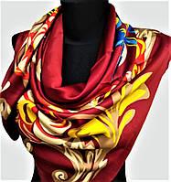 Брендовый шелковый большой платок KENZO шёлк