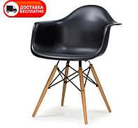Кресло Тауэр Вуд черный пластик Eames DAW Armchair, фото 1