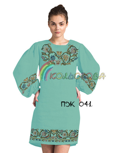 Заготовка жіночого плаття з рукавами (ПЖ-041)