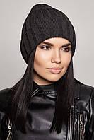 Утепленная вязаная шапочка Ostin Flip Uni темно-серая