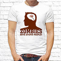 "Мужская футболка с принтом Zombies ""Hate stupid people!"" Push IT"