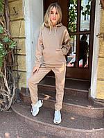 Женский спортивный костюм кофта широкий рукав+штаны трехнить на флис размеры:42,44,46