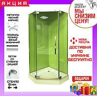 Пятиугольная душевая кабина 100х100 см без поддона Veronis KN-8-100 прозрачное стекло, фото 1
