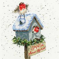 Набор для вышивания Bothy Threads XHD55 Santa Please Stop Here Cross Stitch Kit