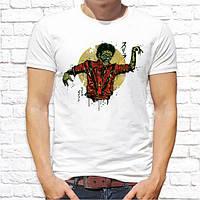 Мужская футболка с принтом Зомби Push IT