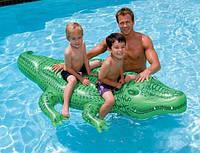 Отличное плавательное средство для 2-3 деток, аллигатор Интекс 58562, с ручкой для держания