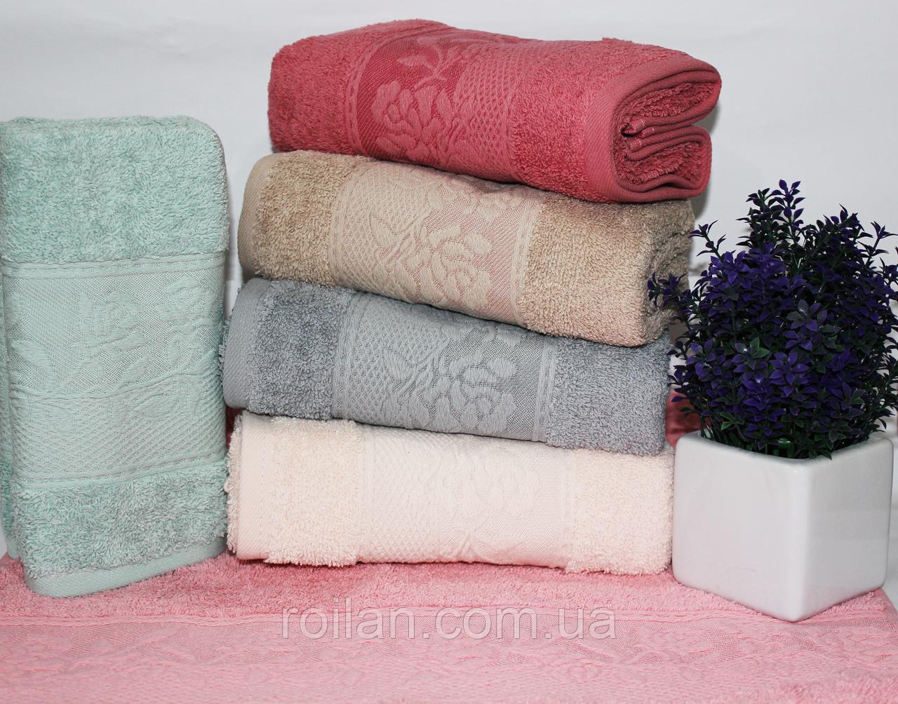 Метровые турецкие полотенца Тесненая Роза
