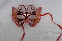 Маска карнавальная, 19*15 см, пластик, розовая, арт. 461691-4