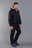 Костюм мужской зимний из плащевки на меховой подкладке с принтом камуфляж Копия (К28897), фото 1