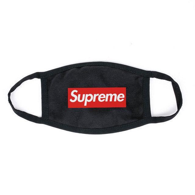 Маска на лицо Пушка Огонь черная в стиле Supreme