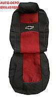 Автомобильные чехлы Chevrolet Aveo 2002-2011 красные (sedan) Nika