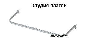 Вішалки дуга овальна в рейку білого кольору .0.60 см, фото 2