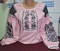 """Жіноча вишивана сорочка """"Фламінго"""""""