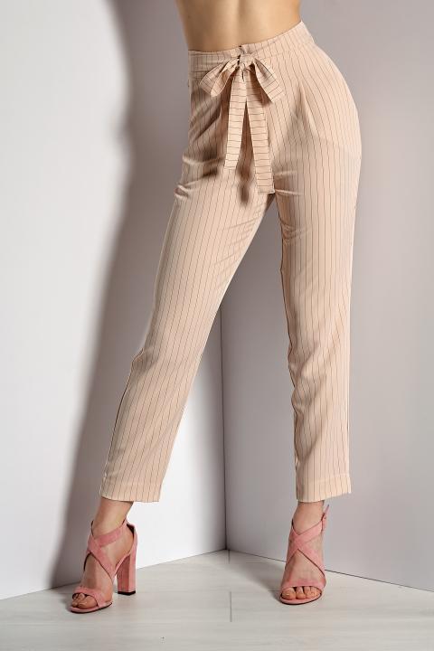 Модные бежевые брюки (Код BR-422 Беж)