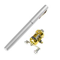 Складная походная мини удочка с катушкой. Карманный спиннинг. Ручка fish Pen