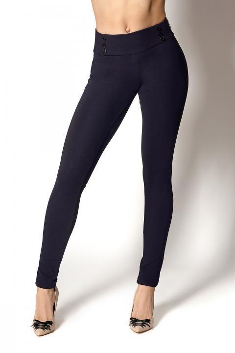 Плотные синие брюки-лосины (Код BR-395 син.в точку)