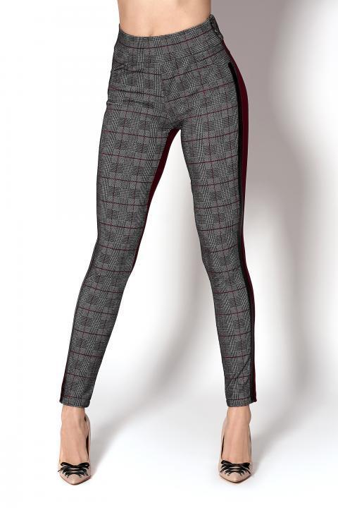Стильные брюки-лосины с полоской (Код BR-404 бордо пол.)