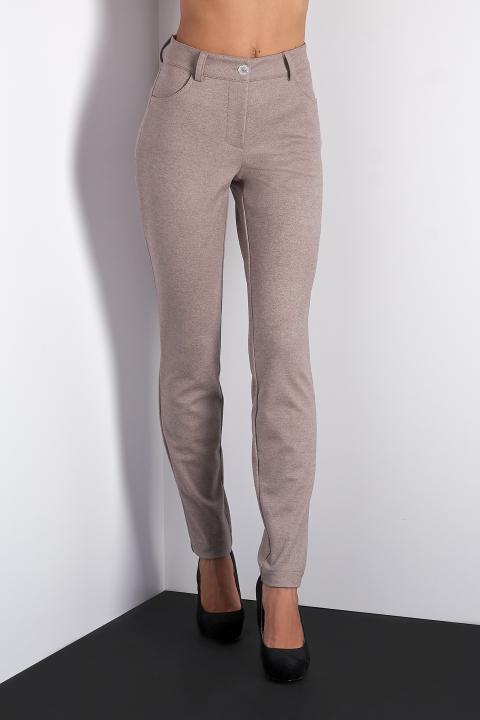 Стильные завуженые брюки (Код BR-436 Шерсть беж)