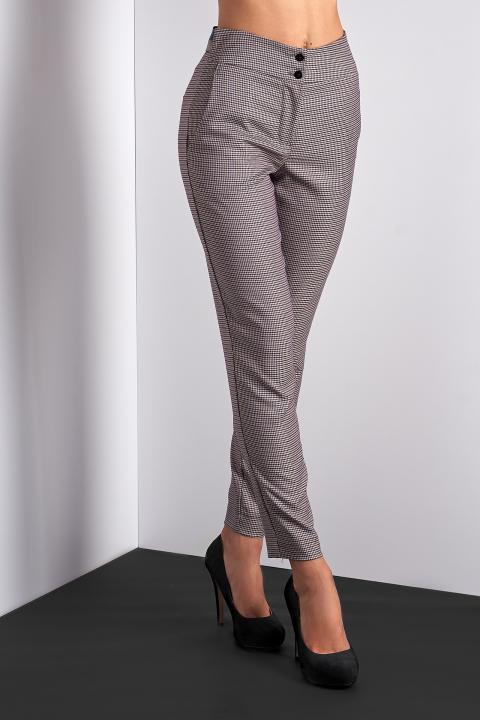 Стильные укороченные брюки (Код BR-434 Лиловый)