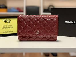 Женская сумка-кошелек красная арт. 63-02