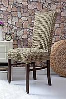 Чехлы натяжные на стулья без оборки (набор 6-шт) Venera хаки