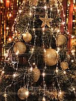 """Новогодняя гирлянда на елку конский хвост «Прозрачные бусины"""", фото 1"""