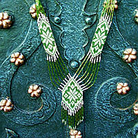 Гердан (зеленый с белым)