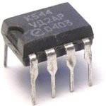 КР544УД2А (LF357N) широкосмуговий швидкодіючий операційний підсилювач з польовими транзисторами на вході.