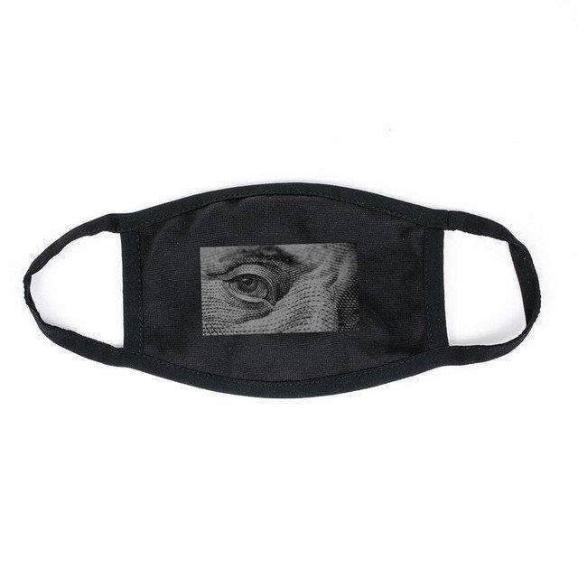 Маска на лицо Пушка Огонь черная - Глаз