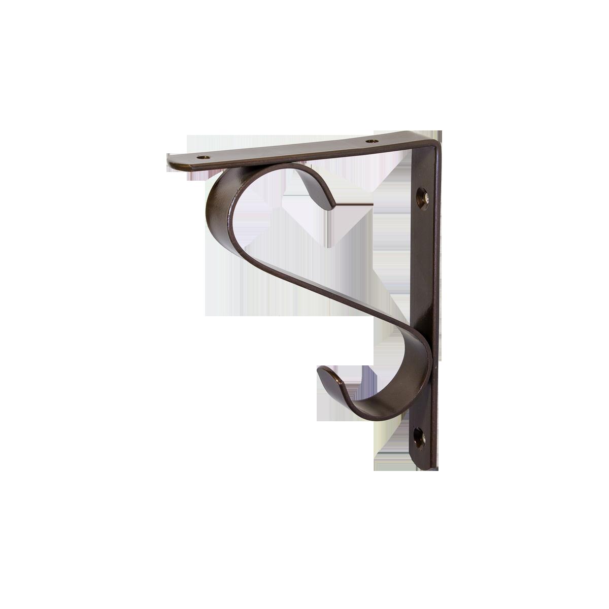 Кронштейн для полок Larvij Прованс 115 х 150 мм Антик бронза.  Крепление для полок. (L7641AB)
