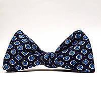 Галстук-бабочка детский KRAGO Dark Blue Medallion Синий KRG-00709, КОД: 187132