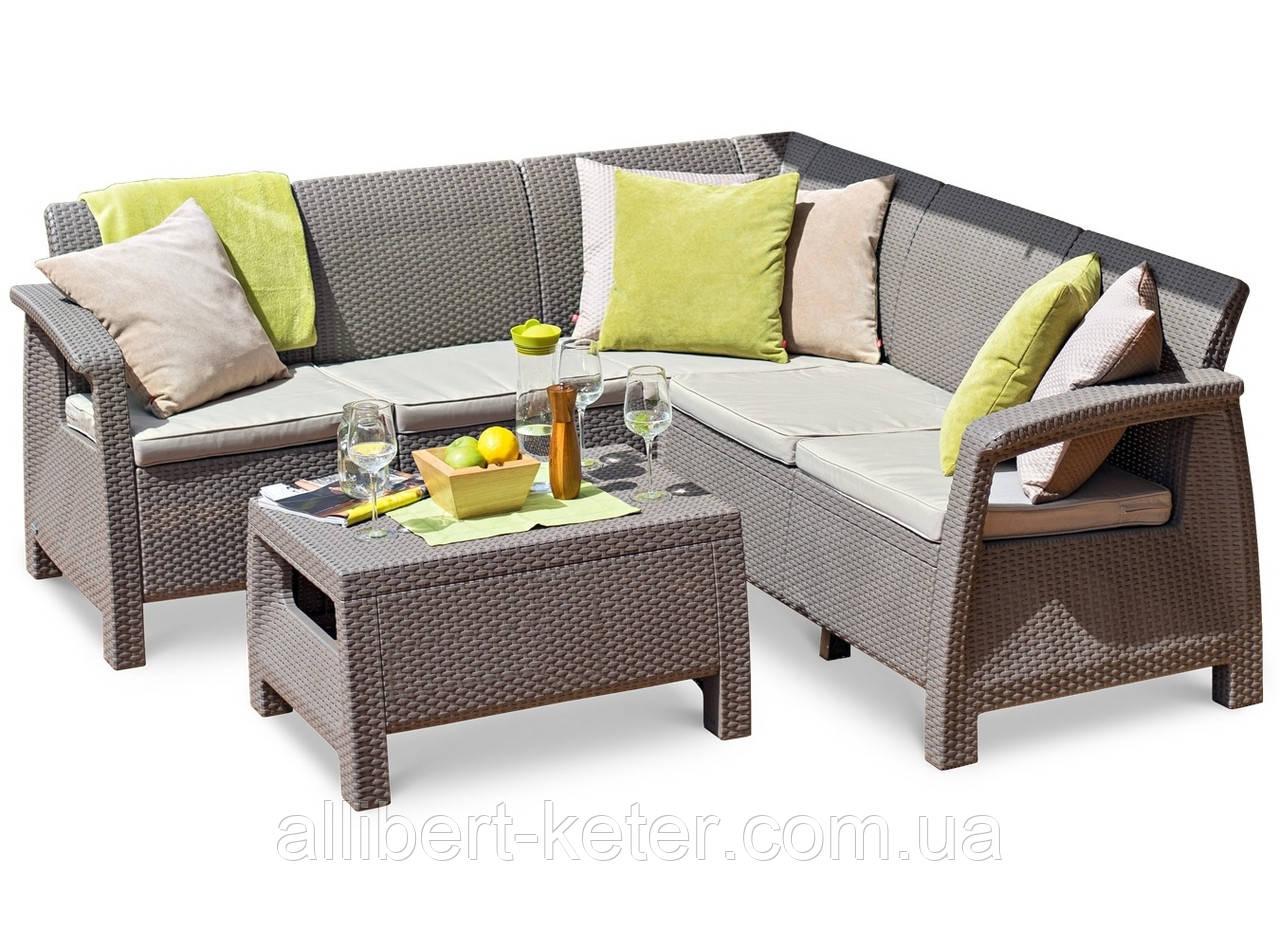 Комплект садовой мебели Allibert Corfu Relax