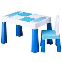 Столик и стульчик Tega Baby MULTIFUN (стол+ стул) цвет синий