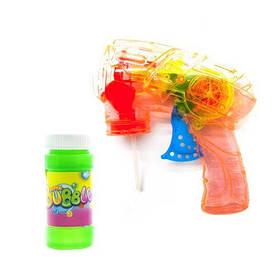 Пистолет с подсветкой, пускающий пузыри (оранжевый)  sco