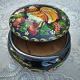Дерев'яна шкатулка з петриківським росписом, фото 2