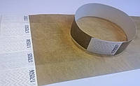 Контрольные браслеты Tyvek Золотистый (19х255мм)