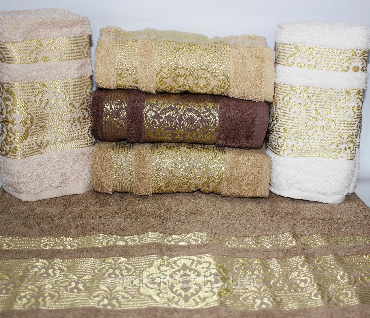 Банные турецкие полотенца Золотой Вензель