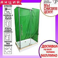 Прямоугольная душевая кабина 100х80 см без поддона Veronis KN-8-08 прозрачное стекло