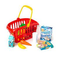 """Корзина """"Супермаркет"""", 33 предмета (красная)  sco"""