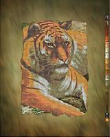 """Схема для вышивки бисером на подрамнике (холст) """"Величественный тигр"""""""