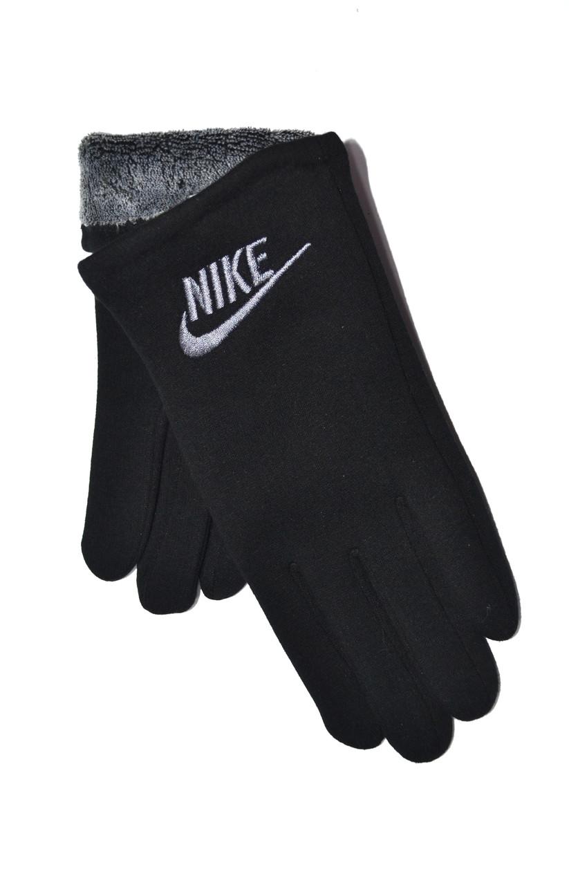 Мужские трикотажные перчатки на махре оптом