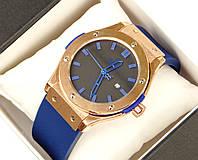 Мужские (Женские) кварцевые наручные часы Hublot на каучуковом ремешке (AAA copy)