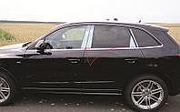 Накладки на стойки двери Audi Q5 2008+ г.в. нержавейка
