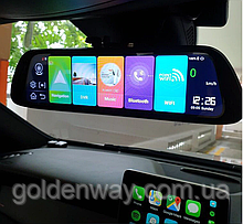 Зеркало с видеорегистратором DVR K40 4G WiFi GPS  Андроид 8.1, Экран 10 дюймов, две камеры, GPS