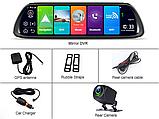 Зеркало с видеорегистратором DVR K40 4G WiFi GPS  Андроид 8.1, Экран 10 дюймов, две камеры, GPS, фото 3