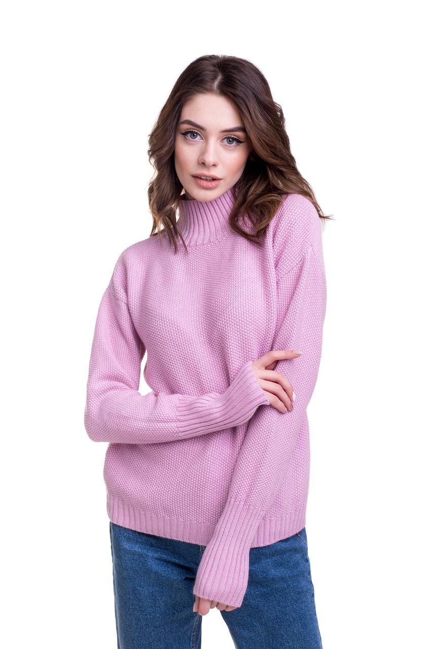 Модный теплый свитер с горлом 46, 48 50 52 размеры