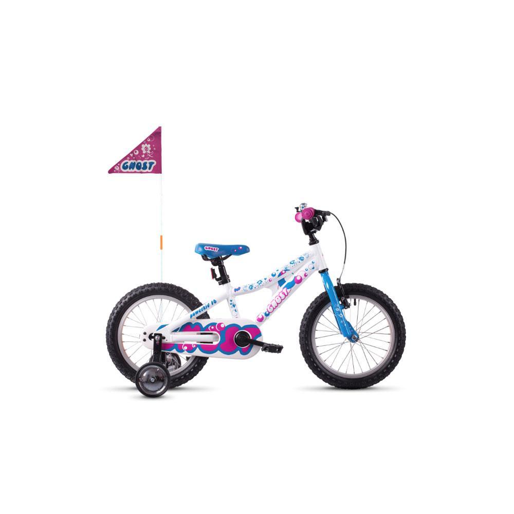 "Детский велосипед Ghost POWERKID 16"", бело-сине-розовый, 2019 (ST)"